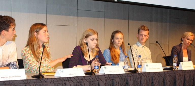 Ungdomspolitikere diskuterer likestilling
