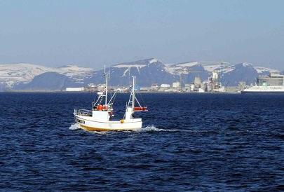 Fiskebåt vid Melkøya