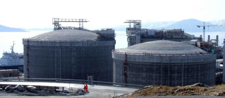 Melkøya LNG-tankar