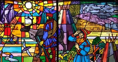 Glassmaleri i Kirkenes utsnitt