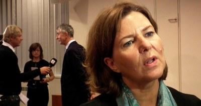 Hanne Bjurström presenterer NAV-sjef