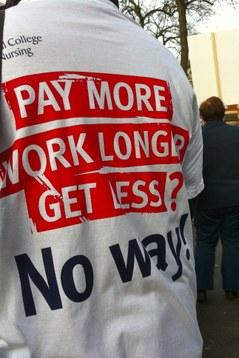 Streikende i Manchester