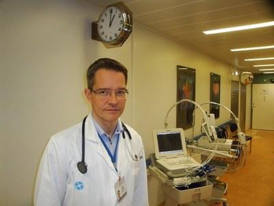 Chefsläkare Ólafur Baldursson vid universitetssjukhuset Landspítalinn i Reykjavík.