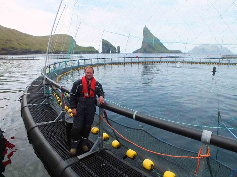Färöisk fiskodling