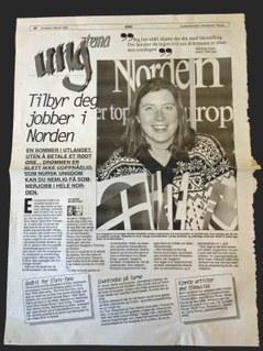 Eva Jakobson Vaagland i avisen