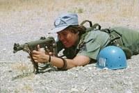 Kvinnlig FN-soldat