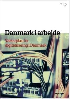 Framsidan av den danska digitaliseringsrapporten
