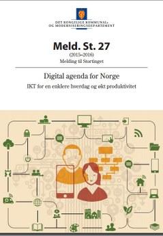 Framsidan av den norska digitaliseringsrapporten