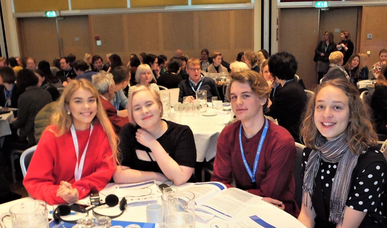 Foto: Björn LindahlFrån vcänster: Rosa Maria Boasdottír, Jenna Wahlstén, Gabriel Malmer och Emilie Agergaard